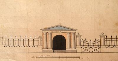 Чертёж ограды. 1829 г. Угличский музей