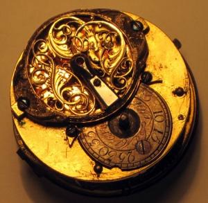 Механизм старинных карманных часов